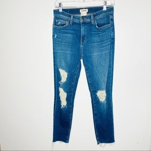 L'AGENCE Marcelle French Slim Fit Distressed Jeans